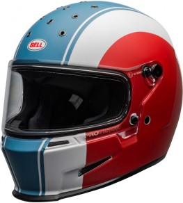 Casque BELL Eliminator Slayer Matte White/Red/Blue taille