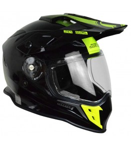 Casque JUST1 J34 Adventure Shape Yellow Neon Gloss taille