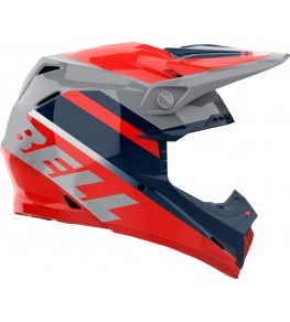 Casque BELL Moto-9 Mips - Prophecy Gloss Infrared/Navy/Gray