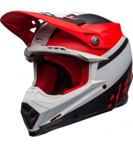 Casque BELL Moto-9 Mips Prophecy Matte White/Red/Black taille