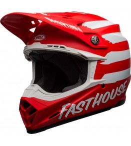 Casque BELL Moto-9 Mips - Signia Matte Red/White