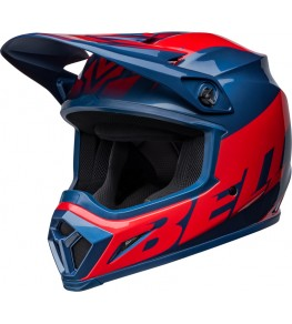 Casque BELL MX-9 Mips - Disrupt Gloss True Blue/Red