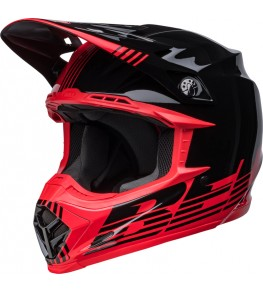 Casque BELL Moto-9 Mips - Louver Gloss Black/Red