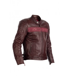 Blouson RST Brandish cuir - rouge taille S