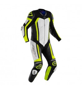 Combinaison RST Pro Series Airbag cuir - jaune fluo/camo taille XS