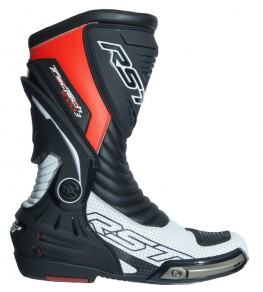 Bottes RST TracTech Evo 3 CE cuir - rouge fluo taille 40