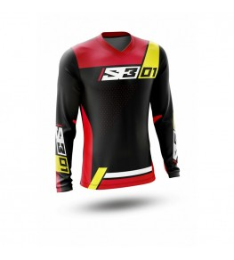 Maillot S3 Collection 01 - noir/rouge taille M